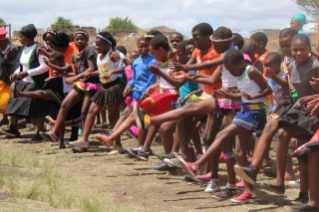 Dancing children in South Africa